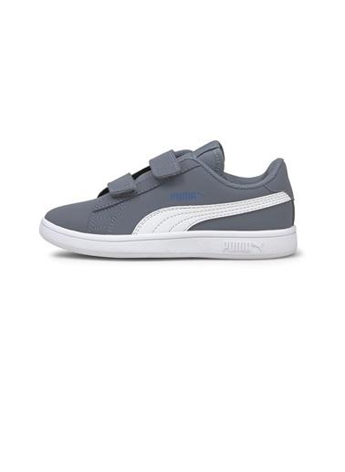 Puma Puma Smash V2 Buck Çocuk Ayakkabı 36518325 36518325015 Beyaz